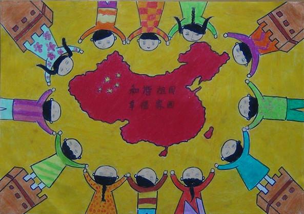 心校 我的梦 中国梦 书法绘画作品