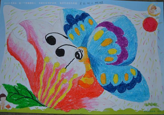 大班幼儿绘画蝴蝶